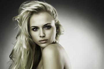 Beautiful sweet blond woman