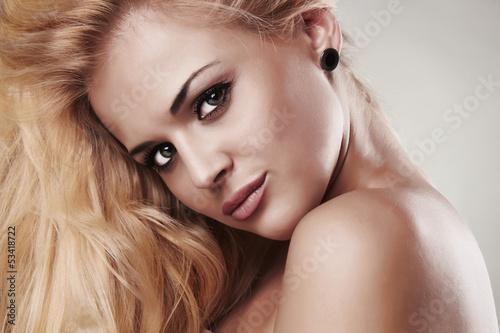 Portrait of beautiful smiling blond woman