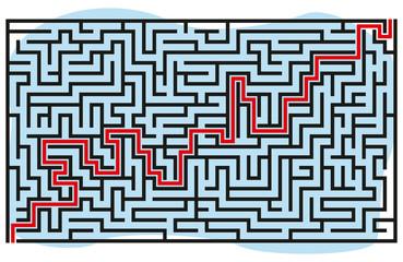 Square maze 37x21 (Black)
