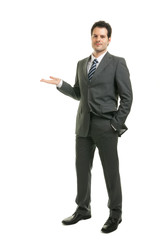 Businessman präsentiert