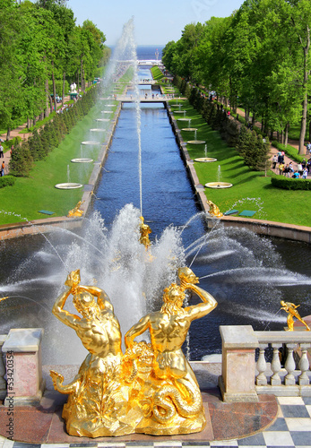 Sea Channel in Peterhof Palace, Russia