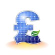 Solar Panel - pound sterling symbol