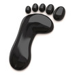 Black footprint icon