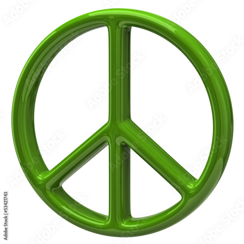 Peace symbol isolated on white background
