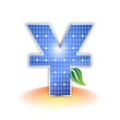 Solar Panel - Yuan symbol 元