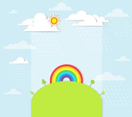 rainbow on the hill