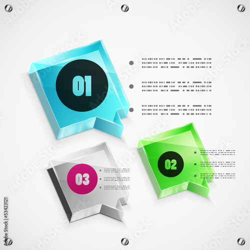 Options steps modern template