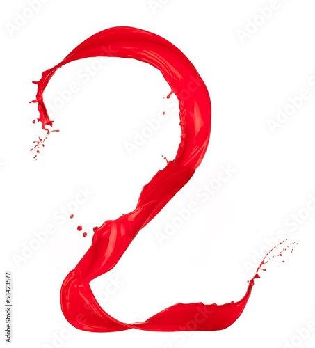 Red Liquid alphabet number