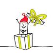 Santa & gift