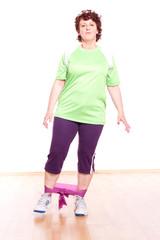 Bein- und Po Übung mit Theraband