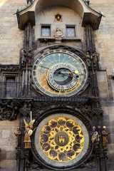 Front view of the astronomical clock
