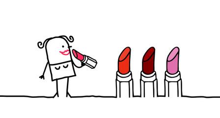 woman & lipstick