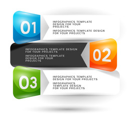 Infographics design with numbered elements. Eps10 vector