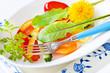 Salat mit Löwenzahn