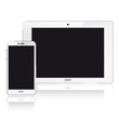 White smartphone and Tab