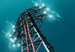 Leinwandbild Motiv torre de alta tensión.Concepto de energia electrica
