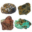 Selection of important copper ore minerals