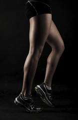 Strong athletic muscular woman