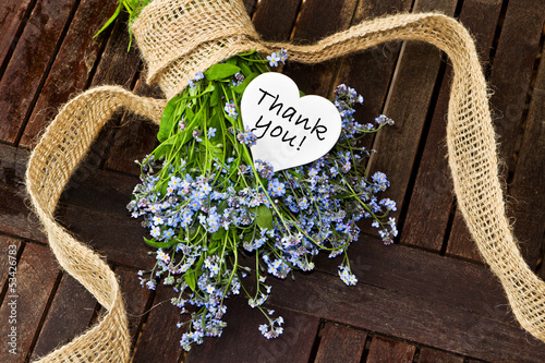 Vergissmeinnicht mit weißem Herz, Thank You