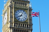 Big Ben And Flag Of The United Kingdom, London