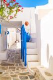 Fototapety Traditional greek alley on Sifnos island, Greece