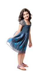 cute little girl in blue dress