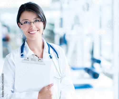 Friendly gym doctor