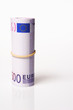 Roll of 500 Euro bills