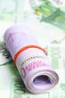 A lot of cash in Euro bills