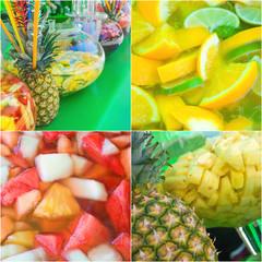 Sommerlich-fruchtige Bowle, erfrischende Sommergetränke