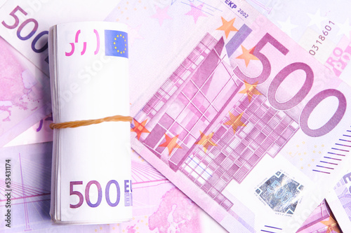 Roll of 500 Euro