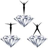人物とダイヤモンド