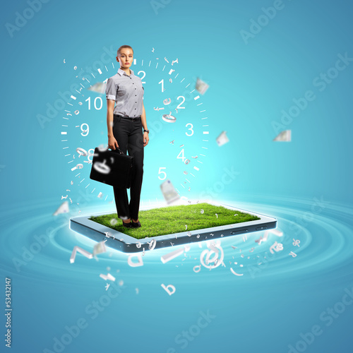 Modern technology illustration