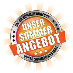 Icon Button Unser Sommer Angebot Orange