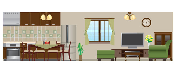 Living room / Dining room / Kitchen_Type4