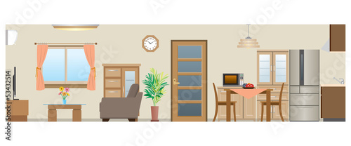 Living room / Dining room / Kitchen_Type2