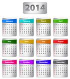 2014 English calendar