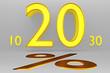 Prozentzeichen_20% - 3D