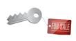 Keys for sale Concept Illustration design