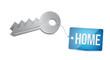 Keys to Home Concept Illustration