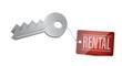 Keys for rental Concept Illustration design