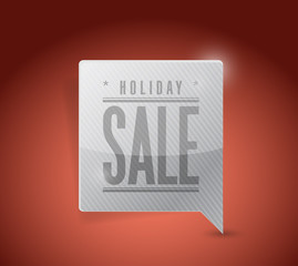 holiday sale pin pointer sign illustration