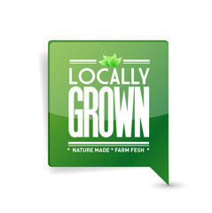 locally grown food sign illustration design