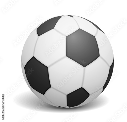 Soccer ball on white backgrond