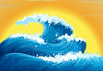 The waves and the sun