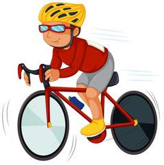 A speedy biker