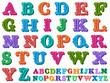 Vector illustration of a complete antiqua alphabet