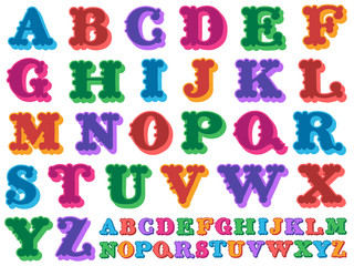 Colorful vector of the complete alphabet