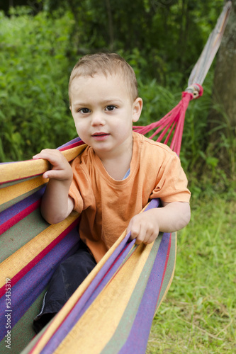 Child in hammock