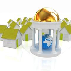 Erth in rotunda and houses